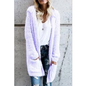 Sweaters - Purple Plush Cardigan